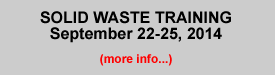 Solid Waste Upcoming Training